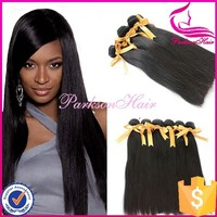 100% Peruvian human hair extension wholesale china 3pcs 14inch silky straight human hair weft