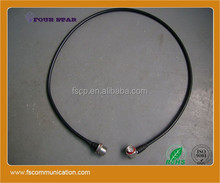 "RF Cable assembly 1000 mm 3-8"" Superflexible Coax Jumper with 7-16 Female Bulkhead Connector to 7-16 Male Right Angle Connector"