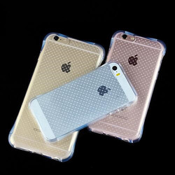 2016 high quality Luxury Airbag Anti-knock Crashproof Crystal Clear TPU Back Cover Case For iPhone SE /5s