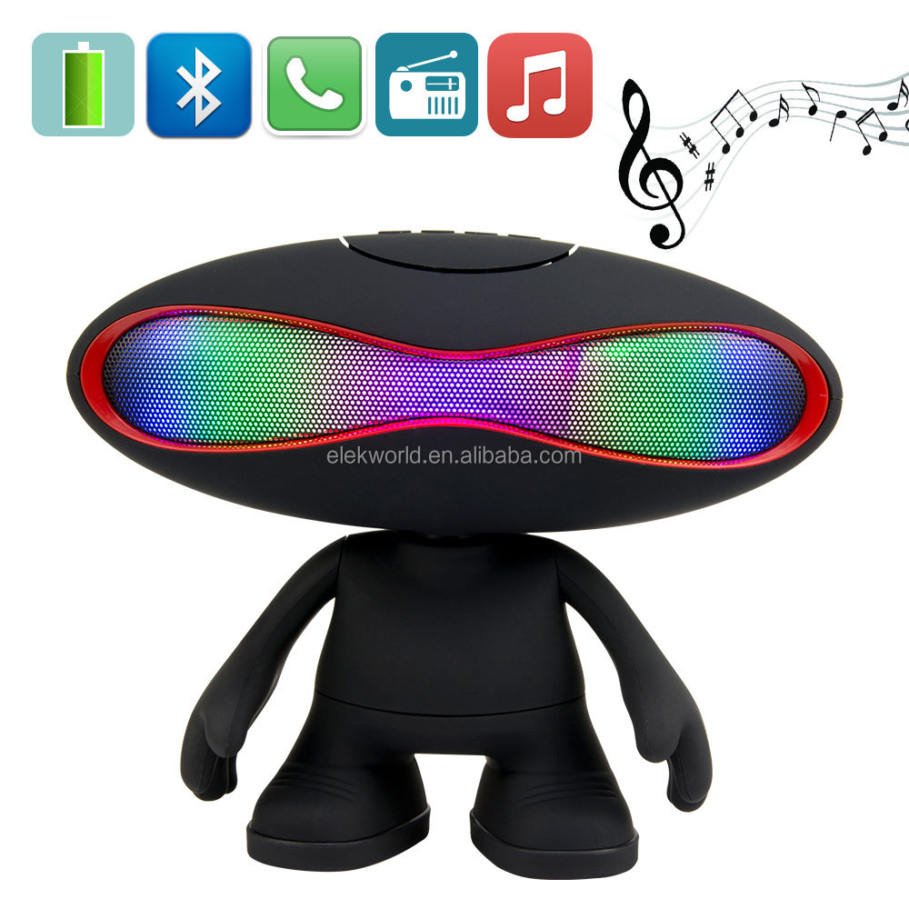 Rugby Doll Colorful LED Lights Bluetooth Speaker Support AUX/LINE-IN/USB Flash Drive/TF Card/Mic/Calls/Music/FM Radio, w/retail