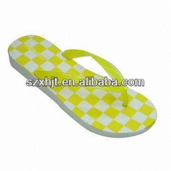 Ladies' Slipper, Wedge Heel, Made of Injected EVA Material, Fancy Design