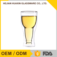 Decorative Design Handcrafted Cooling Funny Glass Beer Boot