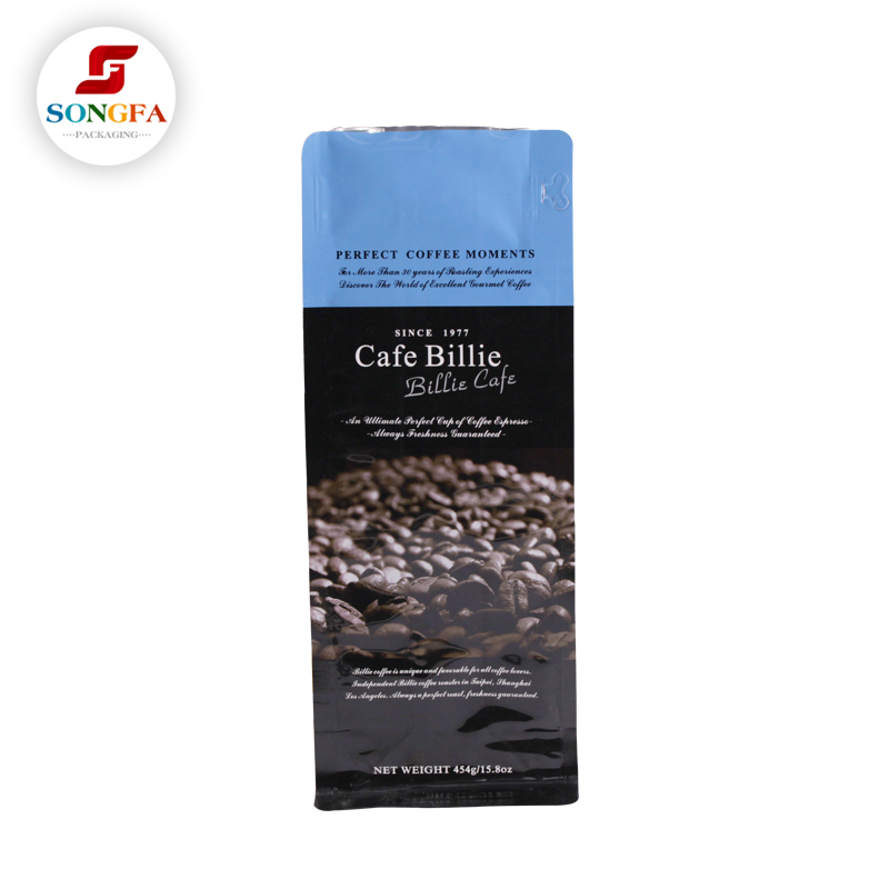 Wholesale new arrival high quality packaging empty coffee tea bags with valve