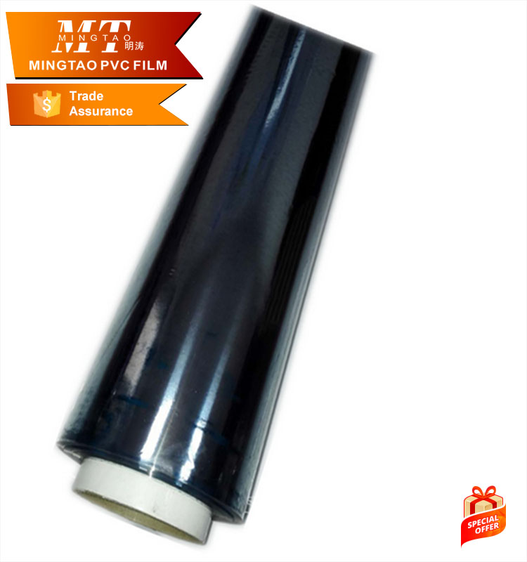 colorful soft PVC transparent roll plastic film for bags packing
