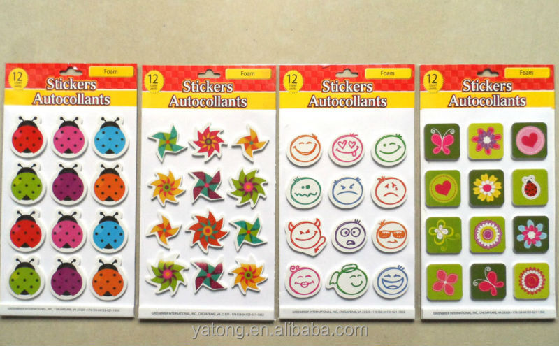 New Eva animal sticker colorful and cute