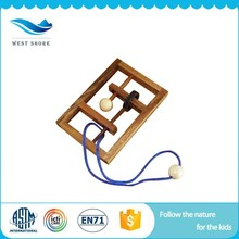 New Promotion kids educational games wooden montessori String Puzzle With Bottom Price