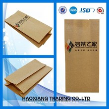 Heat Seal Sealing & Handle and Promotion Industrial Use Kraft Paper Coffee Packaging Bags
