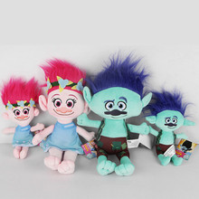 "wholesale cartton toy Trolls Movie 9""/14"" hug doll Set of 4 - poopy & branch <strong>plush</strong>"