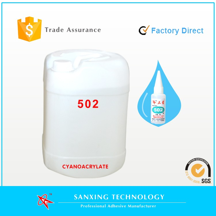 Factory direct, bulk pack high quality 502 super glue cyanoacrylate adhesive with reasonable price and fast delivery