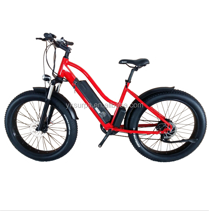 250W350w500w 26inch woman beach cruiser electric bike/chopper cheap fat tire electric bicycle/fat tire city e bike