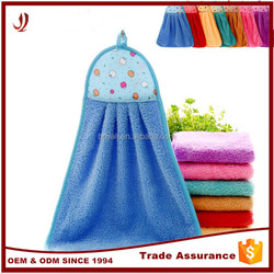 Hot sale hot pink wholesale hangingkitchen hand towel with ties