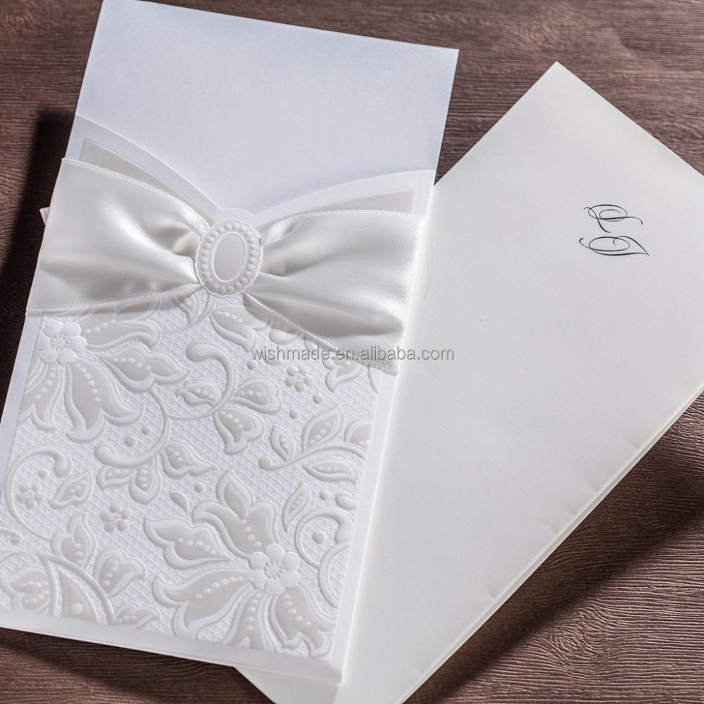 Nice Fabric Scroll Wedding Invitations Gift - Invitations Design ...