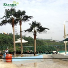 SJZJN 781 Artificial Big Coconut Tree, High Imitation Coconut tree for outdoor or shopping Mall Decoration