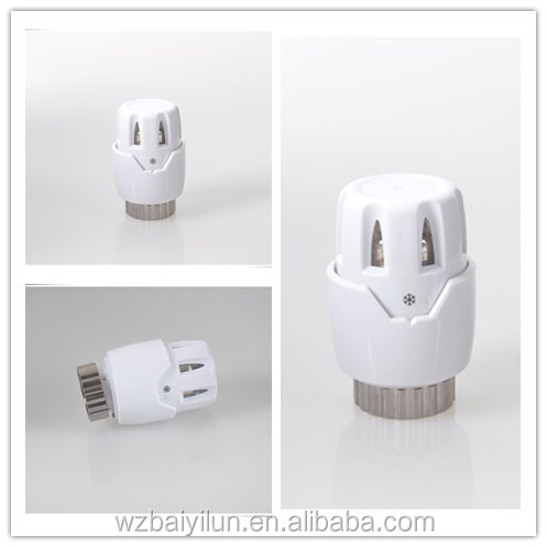 Clear plastic hot water controller thermostatic head for household temperature control