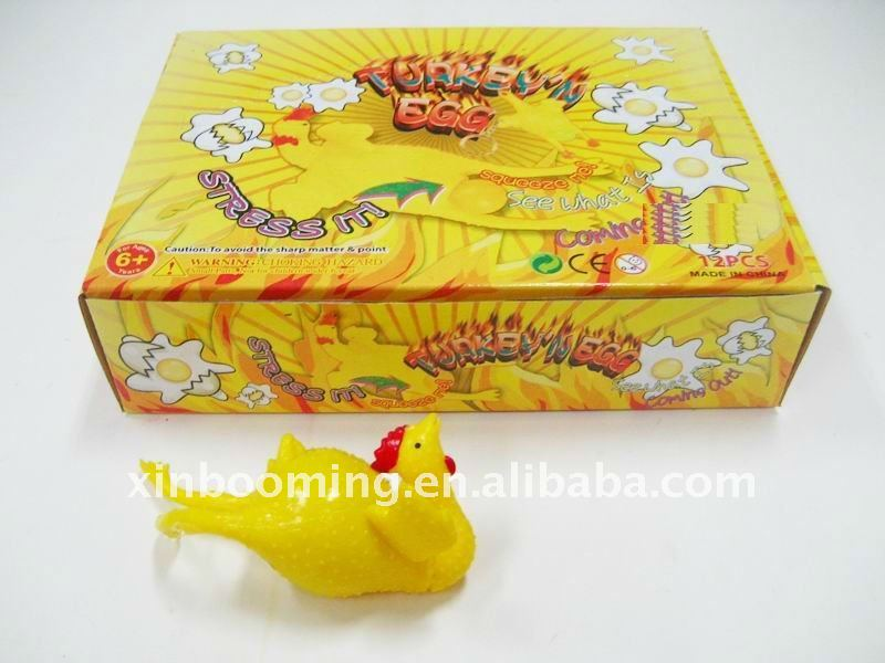 New Promotion Rubber Lay Eggs Chicken, Promotion Gift