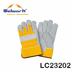 Hand Protective Cow Split Leather Welding Gloves Aramid Fiber Line ...