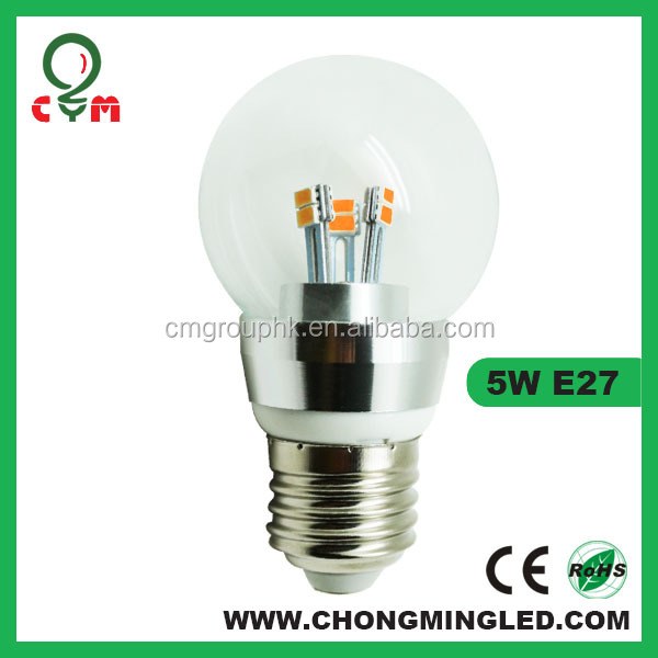 Led bulbs 5 watt e27 base diameter 40mm/50mm