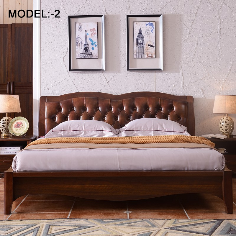 Bedroom Furniture King Size Wood Bed Furniture Sleeping Bed