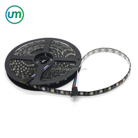 5050 RGBW 5m 60leds/m led strip rgbw RGB+Cold White strip Waterproof IP65 Black PCB DC12V SMD 5050 Mixed color