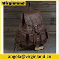 Top Quality Vintage Soft Custom Genuine Leather Backpack for School