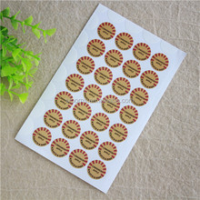 Hot sale cheap plastic candy scratch and sniff sticker with cartoon character
