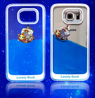 Dynamic Liquid Glitter Quicksand Star Case Crystal Clear Cellphone Back Cover for Samsung Galaxy Note4