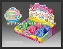 2012 new flashing light music top toy for kid