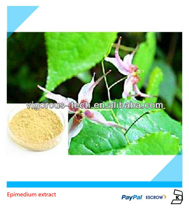 icariin 50% 60% 80% 98% epimedium herbal extracts