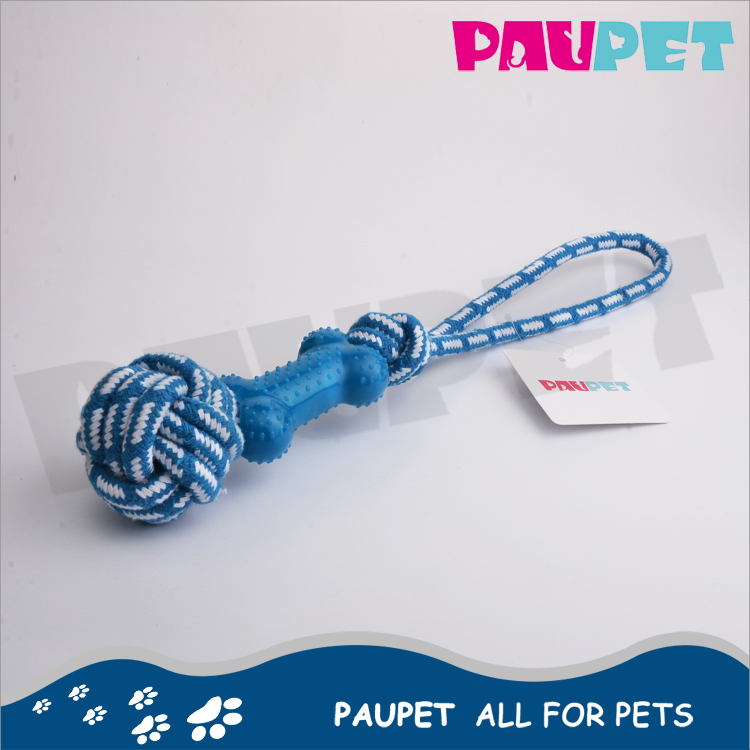 Best price weaving tennis cotton braided bone rope for dog toys