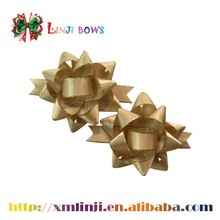 Wholesale gold edge satin ribbon bow star bow for Box packaging