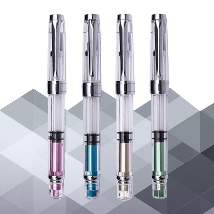 new design plastic fountain pen with logo