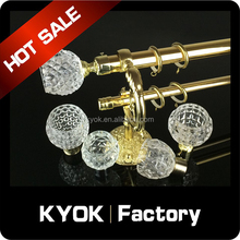 2015 cup shape crystal glass curtain finials wholesale , home decorations curtain pole , curtain pole set with low price