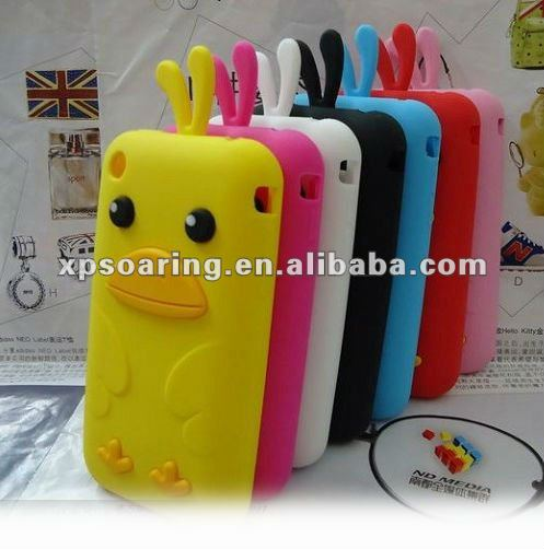 Poult silicon case back cover for iphone 3GS,3G