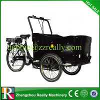 Black cargo bike for cargo or passenger