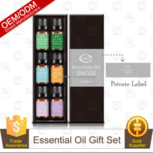 Private Label Pure Organic Essential Oil Set for Aroma Diffuser