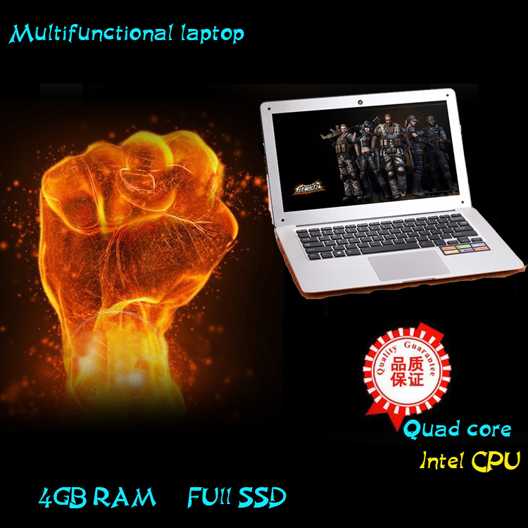 4GB RAM 64GB SSD solid status disk light and portable notebook <strong>laptop</strong> with metal case