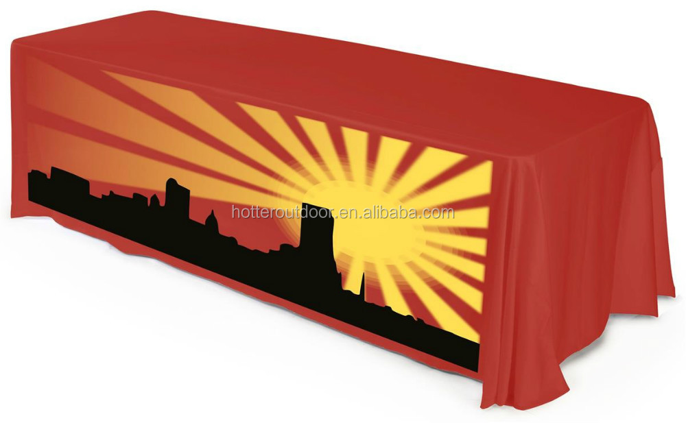 Custom Printed Table Cover - Trade <strong>Show</strong> Table cover - Full Color 6' Drape Style