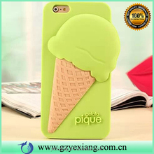 Latest arrival cute 3d silicone melting ice cream case for iphone 4s silicon back cover case