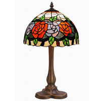 2018 New tiffany classic style table lamp with flowers design shades for hotel decor