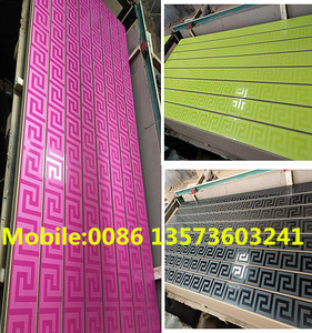 high quality new design MDF slatwall aluminum insert