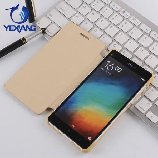 simple style wholesale pu leather case for xiaomi mi 4i flip cover