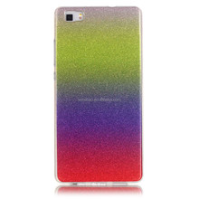 Phone Accessories Gradually Color Changing Soft TPU Back Cover Case, Phone Case For Huawei P8 Lite