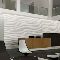 2440mmx1220mmx25mm textured wave board 3d wall panels