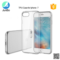 Junbo New arrival Ultra thin crystal clear soft transparent tpu case for iphone 7