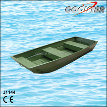 1.2mm painted flat bow cheap aluminum fishing boat