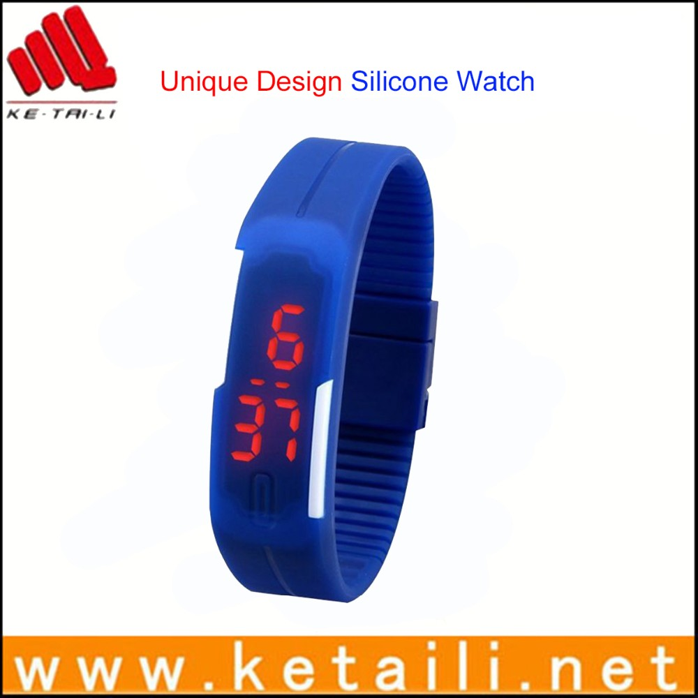 Shenzhen custom silicone wrist band watch eco-friendly promotional gift