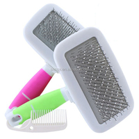 Pet Supplies New nice smooth plastic handle dense comb Gilling Makeup brush