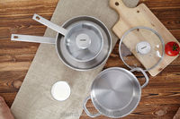 quality stainless steel cookware& Non-stick Aluminum Cookware& glass lid enamel non-stick cookware set