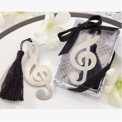 hot sale music note beer bookmarks as wedding return gifts