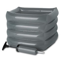 4 chamber grey Foot Spa Inflatable Portable Foot Bath With Hand Air Pump